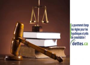 Le gouvernement change les règles pour les hypothèques et prêts de consolidation ! par www.dettes.ca