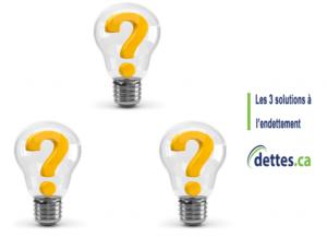 Les 3 solutions à l'endettement par www.dettes.ca