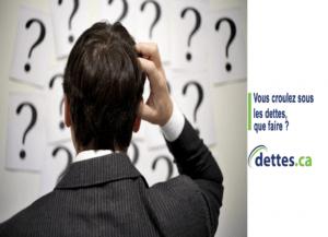 Vous croulez sous les dettes, que faire? par www.dettes.ca