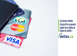 Les jeunes adultes d'aujourd'hui ne paieront jamais leurs dettes de cartes de crédit! par www.dettes.ca