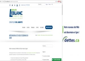 Notre nouveau site Web est désormais en ligne! par www.dettes.ca