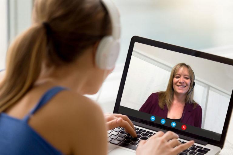 Une rencontre en appel vidéo