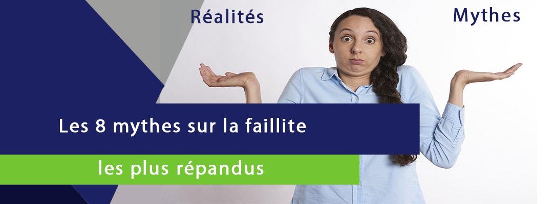 image d'une fille confuse entre la réalité et les mythes sur la faillite les plus répandus
