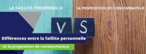 Différences entre faillite et proposition de consommateur