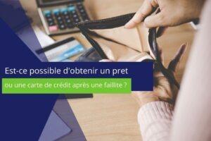 """Photo sur laquelle est écrit :"""" est-il possible d'obtenir une carte de crédit après une faillite ?"""""""